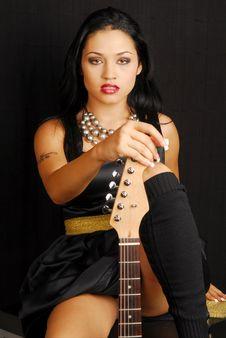 Hispanic Female Rocker Royalty Free Stock Images