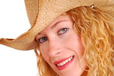 Free Young Woman Wearing Cowboy Hat Royalty Free Stock Photos - 6602588