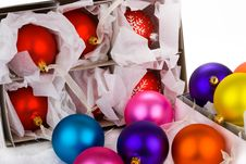 Free Boxed Christmas Bauble Decorations Royalty Free Stock Images - 6602929