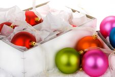 Free Boxed Christmas Bauble Decorations Stock Photos - 6602953