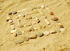 Free Stones On Sand Stock Photos - 6603243