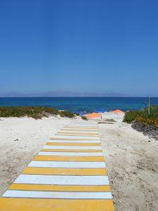 Free Beach Under A Blue Sky Royalty Free Stock Photo - 6603415