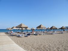 Free Beach Under A Blue Sky Stock Image - 6603431