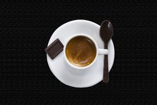 Free Cup Of Coffee & Chocolate Clipping Path Royalty Free Stock Photos - 6603468