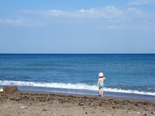 Free Beach Under A Blue Sky Royalty Free Stock Image - 6603516