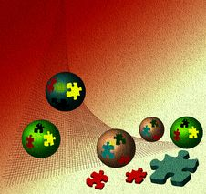 Abstract Puzzle Balls Stock Image
