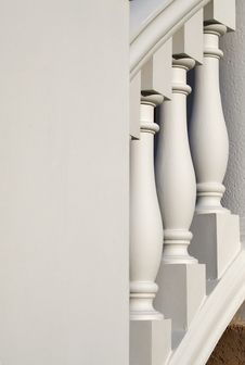 Free Architecture Banister Columns Royalty Free Stock Photo - 6604855