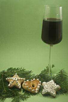 Free Wine And Christmas Cookie Stock Photos - 6605253