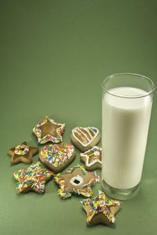 Free Cookies And Milk Stock Photography - 6605312