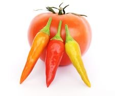 Free Chillies And Tomato Stock Photography - 6606522