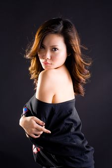 Free Glamourous Asian Woman Royalty Free Stock Photography - 6608317