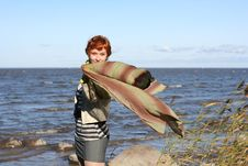 Free Red Haired Woman With Scarf. Royalty Free Stock Photo - 6609165