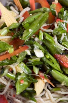 Rice Noodle Relish Closeup Stock Photos