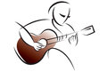 Free Logo Guitar Training Royalty Free Stock Photos - 66033188