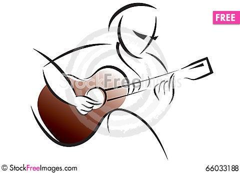 Free Logo Guitar Training Royalty Free Stock Photos - 66033188