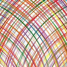Abstract Rainbow Curved Stripes Color Line Art Vector Background Royalty Free Stock Photos
