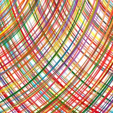 Abstract Rainbow Curved Stripes Color Line Art Vector Background Stock Image