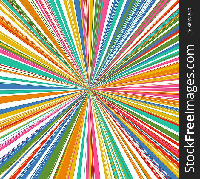 Abstract rainbow curved stripes color line zoom background