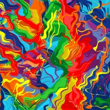 Free Art Rainbow Color Splash Brush Strokes Paint Abstract Background Royalty Free Stock Image - 66065786