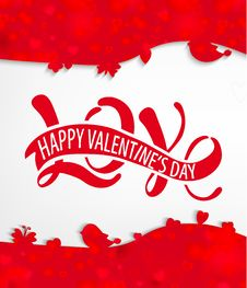 Love - Happy Valentine S Day Royalty Free Stock Photography