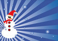 Free Winter Background With Snowman Royalty Free Stock Images - 6611099