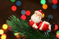 Free Santa Resting Over A Christmas Branch Tree Stock Photo - 6611100