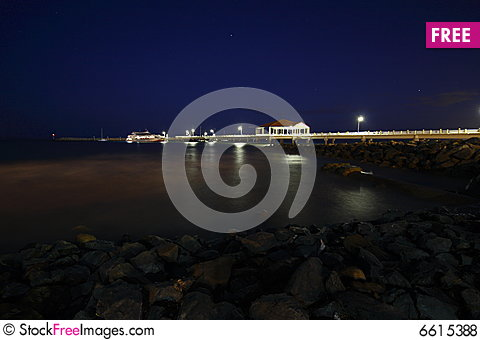 Free Pier At Night Royalty Free Stock Photos - 6615388