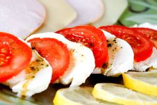 Free Tomato & Mozzarella Dish Stock Image - 6610041