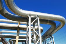 Free Industrial Pipelines Royalty Free Stock Image - 6610836