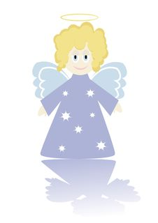 Free Cartoon Figure Of Little Angel. Royalty Free Stock Images - 6610899