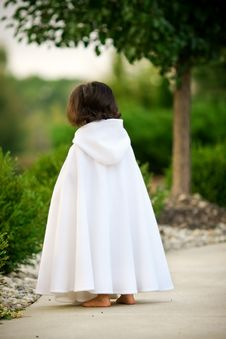Girl In Cape Stock Photography