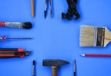 Free Building Tools. Royalty Free Stock Photography - 6612037