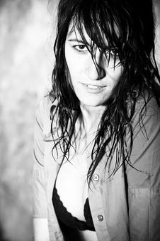Free Sensual Wet Woman Stock Image - 6612571