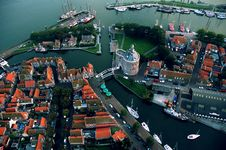 Free Dutch Town By The See From The Air Royalty Free Stock Photo - 6613035