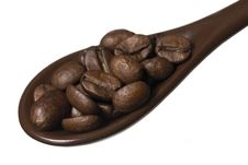 Free Spoon Full Of Coffee Royalty Free Stock Photos - 6613418