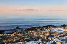Free The Shore Of The Great Salt Lake Stock Photos - 6613773