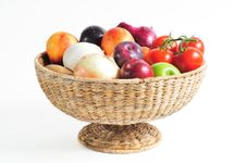 Free Basket Of Produce Stock Photo - 6613890