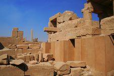 Free Karnak  Temple Ruins Stock Photo - 6614160