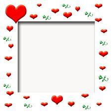 Free Valentine Scrapbook Frame Stock Image - 6614291