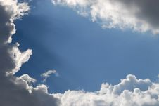 Free Cloudy And Blue Sky Royalty Free Stock Images - 6615189