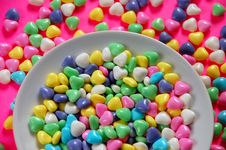 Free Bowl Of Candy Hearts Stock Photo - 6615640