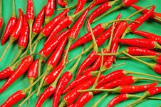 Free Red Chili Peppers Royalty Free Stock Images - 6615779