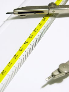 Free Ruler And Compasses Royalty Free Stock Image - 6616576