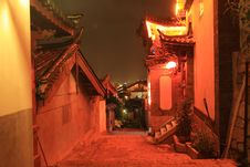 Free Night View Of Lijiang Royalty Free Stock Photos - 6616658