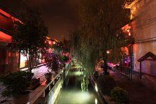 Night View Of Lijiang Royalty Free Stock Image