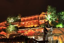 Free Night View Of Lijiang Royalty Free Stock Photography - 6616667