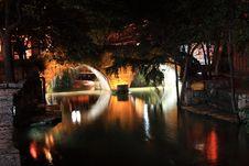 Night View Of Lijiang Stock Photo