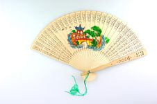 Free Wooden Folding Fan Stock Photo - 6616880