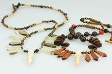 Sundry Indian Necklace Stock Image