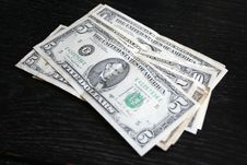 Free Old Paper Dollars Stock Photos - 6617183